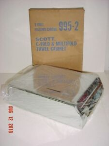 Scott Brand C fold Multifold Paper Towel Dispenser 995 2 Polished Chrome New