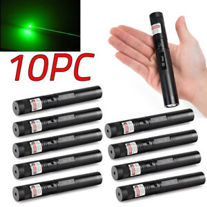 10pc 10miles 1mw 532nm Visible Light Fantastic Green Laser Pointer Lazer New