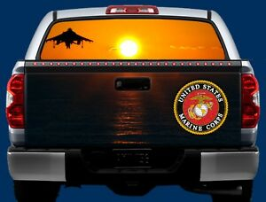 U s Marines Tailgate Window Wrap Kit Truck Tailgate Vinyl Graphic Decal Wrap