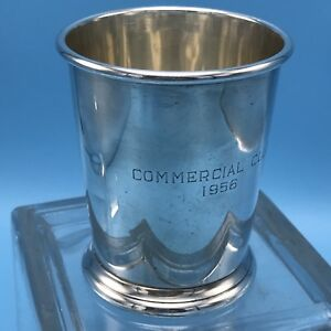 1956 Genuine Sterling Silver Mint Julep Cup Engraved Commercial Club 140 Grs