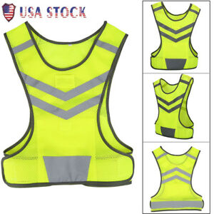 Hi vis Safety Vest Reflective Jacket Security Waistcoat Construction Traffic Us