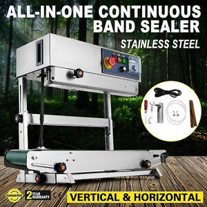 Continuous Band Sealer Bag Vertical horizontal Sealing Machine Usa Pe All in one