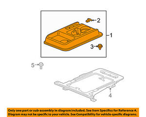 Honda Oem 03 06 Element center Console 77290scva01zb