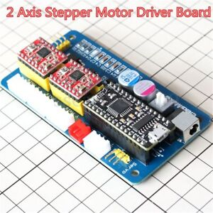 2 Axis Usb Cnc Stepper Motor Control Board Driver 12v Power For Laser