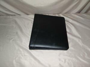 Royce Leather 2 Ring Binder Black