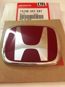 Oem Jdm Honda Civic Type r Front Red Emblem Ep3 2002 2005 Civic Si 75700 s5t e01