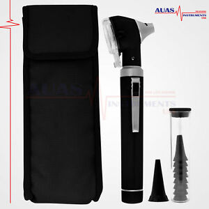 Fiber Optic Mini Otoscope Black Bright Whitest Led Illumination Diagnostic