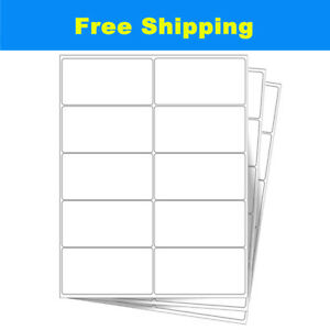 Premium 500 4000 Sheets 10 Up 2 X 4 Shipping Mailing Address Labels Adhesive