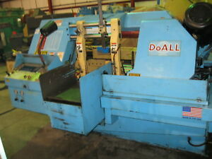 Horizontal Band Saw 12 X 16 Do all C 410a Auto Feed 1 5 Blade 7 5 Hp 1995