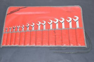 Snap On 14 Piece Metric Four 4 Way Offset Angle Head Open End Wrench Set Vsm814