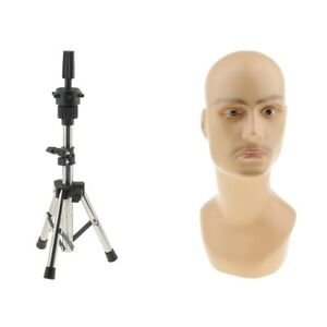Male Mannequin Manikin Head Model Glasses Caps Toupee Display Holder Stand