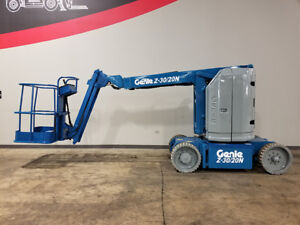1999 Genie Z30 20n 500lb Cushion Articulating Jib Boom Lift Electric Aerial Lift