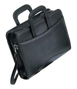 Bellino P8121 Executive Leather Zip around Binder Briefcase Padfolio 3 Ring