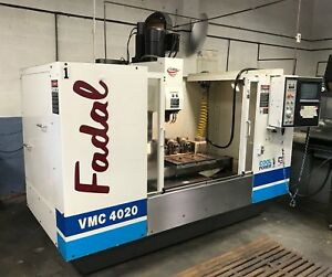 Used Fadal 4020ht Cnc Vertical Machining Center Mill 10 000 Rpm Ct40 4th Ready