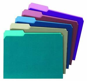 Globe weis pendaflex Colored File Folders 1 3 Cut Single ply Tab Letter Size