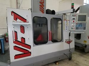 Used Haas Vf 1 Vertical Mill Machining Center 20x16 Vmc Gear Box P cool 4th 1996