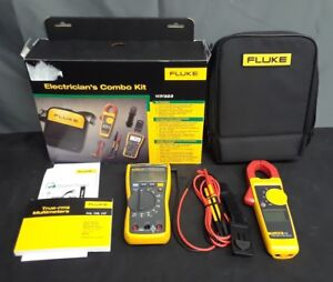 Fluke 117 323 Kit Electricians Multimeter Combo Kit New In Opened Box