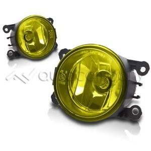 For 2005 2015 Ford Mustang Replacement Fog Lights Bumper Fog Light Set Yellow