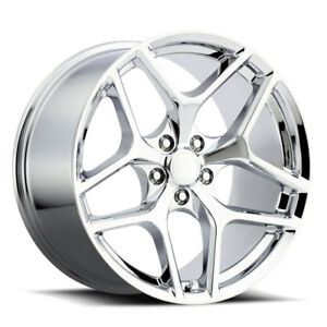 4 20x10 20x11 Stagger Chrome Z28 Style Fit 2010 up Camaro Wheels Rims Set