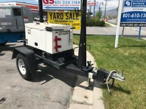 225 Amp Welder 6 Kw Generator Single Phase Diesel Multiquip Whisperweld Portable