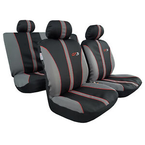 Gts Racing Embroidered Sports Poly Cotton Breathable Universal Car Seat Cover