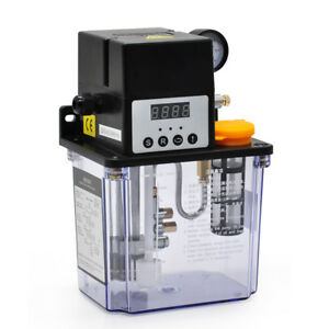 2l 220v Auto Lubrication Pump Cnc Digital Electronic Timer Oiler Pressure Test