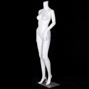 63 4 Height Shop Plastic Headless Steel Base Female Mannequin Cloth Model Us
