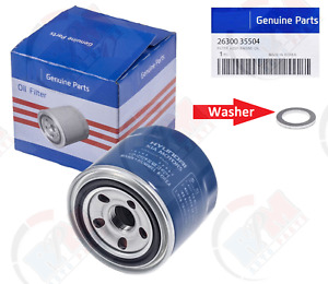 Genuine Oil Filter 26300 35504 Oil Drain Plug Gasket For Hyundai