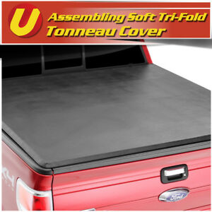 Fits 2014 2018 Chevy Silverado 6 5 ft Bed Vinyl Assembly Tri fold Tonneau Cover