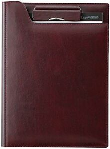 Reimeifujii stationery clip File Zeitvektor A5 Leather Wine Zvf605z
