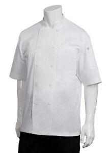 New Chef Works Men s Montreal Cool Vent Chef Coat White X small Free2dayship