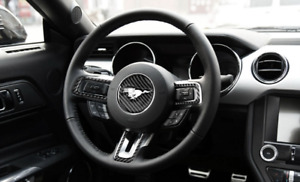 For Ford Mustang 2015 17 Carbon Fiber Steering Wheel Car Stickers 2015 2016 2017