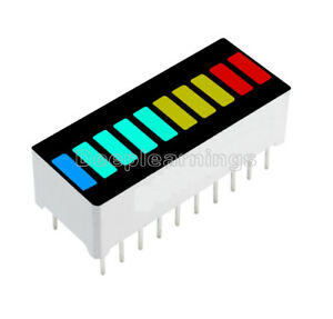 2 5 10pcs 10 Segment Blue Green Yellow Red Colorful Led Bar Graph Indicator New