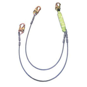 Safewaze Fs561 ca 6 Cable Energy Absorbing Lanyard With Double Locking Snap