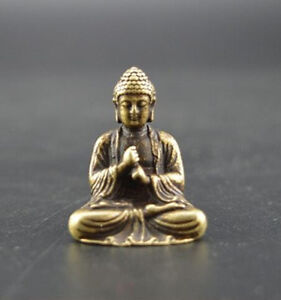 China S Pure Brass Sakyamuni Buddha Small Statue