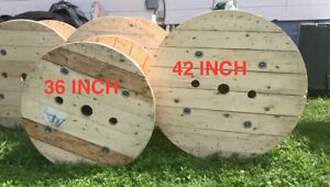 42 Inch Solid Pine Round Tops Spool Tops Tables Tops