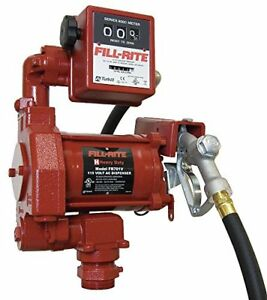 Fill rite Fr711va Fuel Transfer Pump 115v Ac High Flow Meter Auto Nozzle Hose