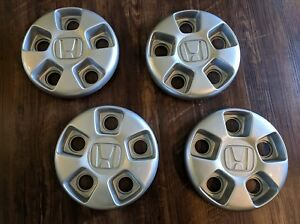 Set Of 4 06 15 Honda Pilot Ridgeline Oem Center Hub Cap 44732 sjc a01 Silver