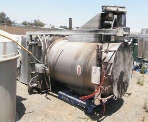 100 Cu Ft Stainless Steel Bin With Auger Discharge