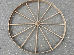 1800 S All Wooden Antique Wagon Wheel 48 Inches Very Rare