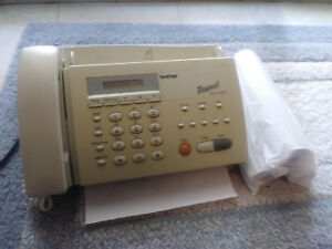 Brother Thermal Fax Machine Copier Good Working Condition With 3 New Rolls