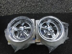 Vintage Cragar Ss Wheels Chrome Reverse 15x7 Gm 4 3 4 Direct Bolt Pattern Day 2
