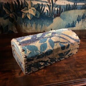 Aubusson Tapestry Fragment Box Mounted By Jacques Lamy 17th 20th Century
