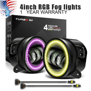4 led Fog Work Light Projector Car Halo Ring With Drl Fit Mazda Miata Truck 2x