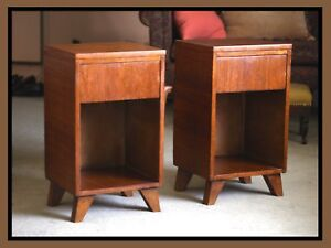 La Period Mid Century Modern Night Stand Pair L A Period End Tables Vintage