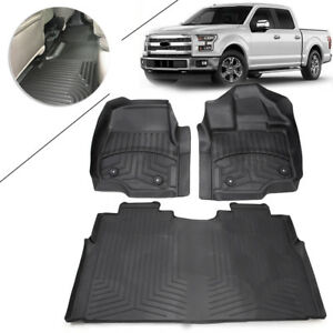 3pcs Car Floor Mats For Ford F 150 Supercrew Pickup 2015 2018