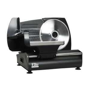Elite Electric Meat Food Slicer Perfect Deli Thin Cold Cuts Cheeses Vegetables