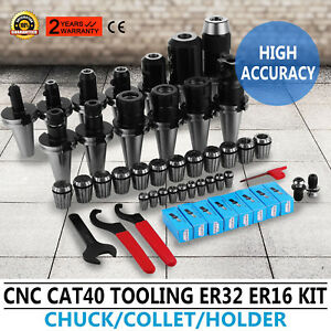 Cat 40 Tooling Kit For Haas Fadal Cnc Mill er Chuck Collet Holder Er32 16 Tap