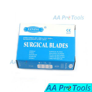 Aa Pro Box Of 100 No 11 Surgical Scalpel Blades Sterile Carbon Steel