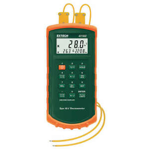 Extech Thermocouple Thermometer 2 In type J K 421502